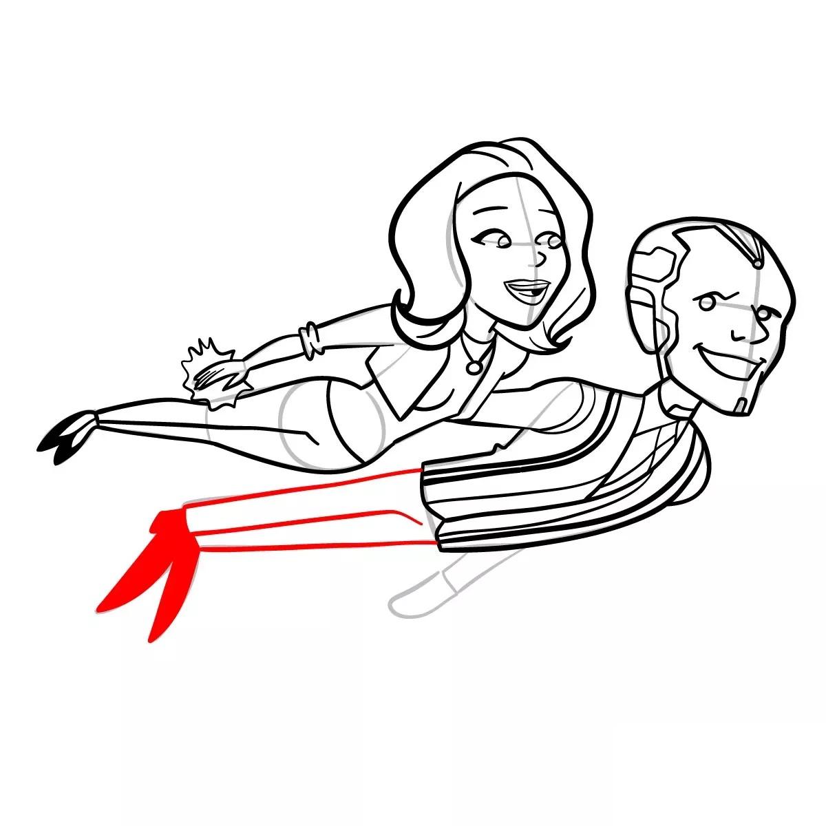 Ванда и Вижн рисуем 17