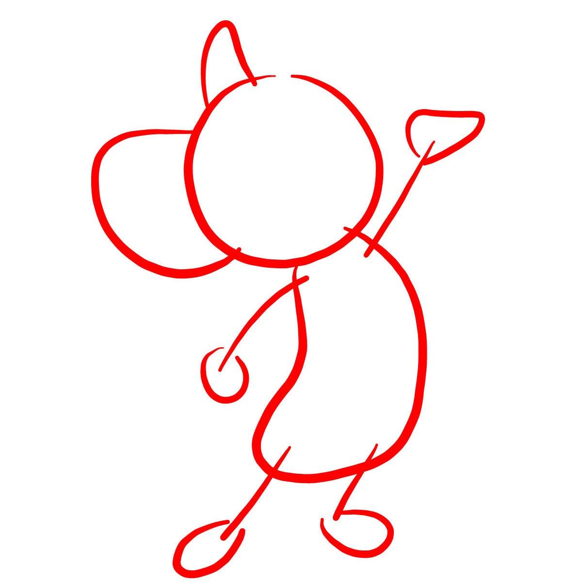 рисуем мышонка Джерри 1