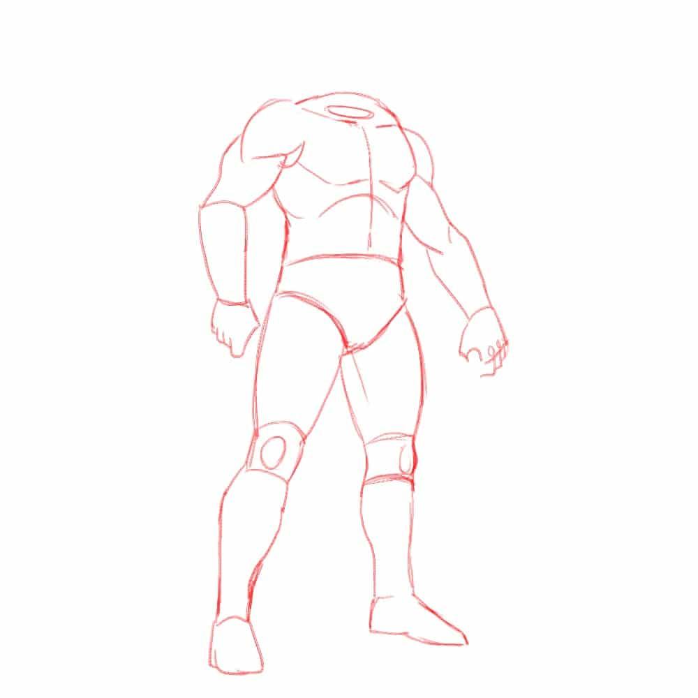 Как нарисовать Конана 3