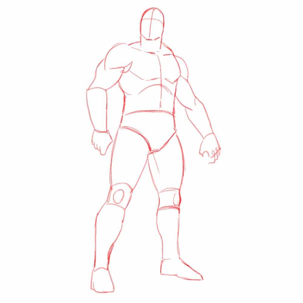 Как нарисовать Конана 4