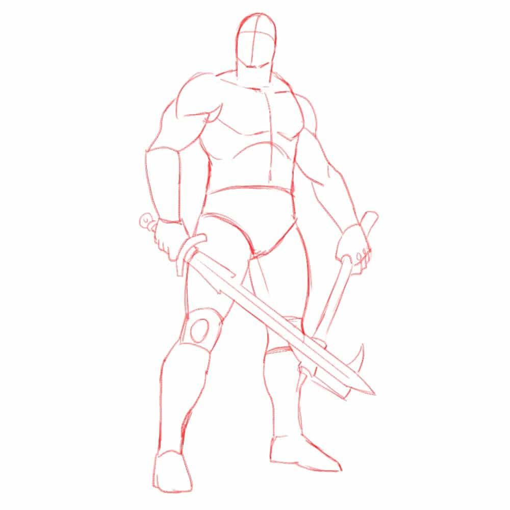 Как нарисовать Конана 5