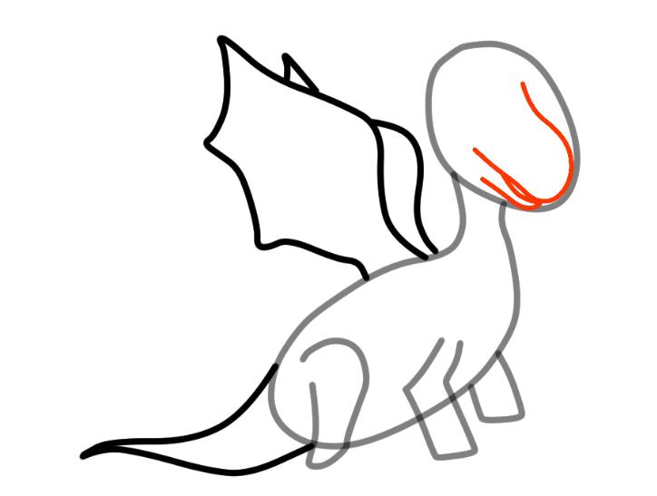 как нарисовать дракона 15