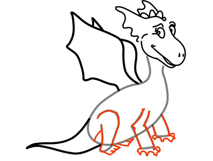 как нарисовать дракона 20