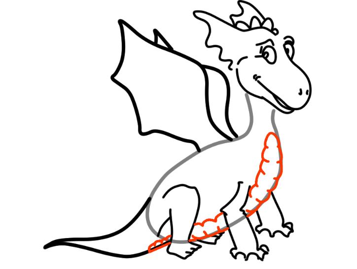 как нарисовать дракона 21