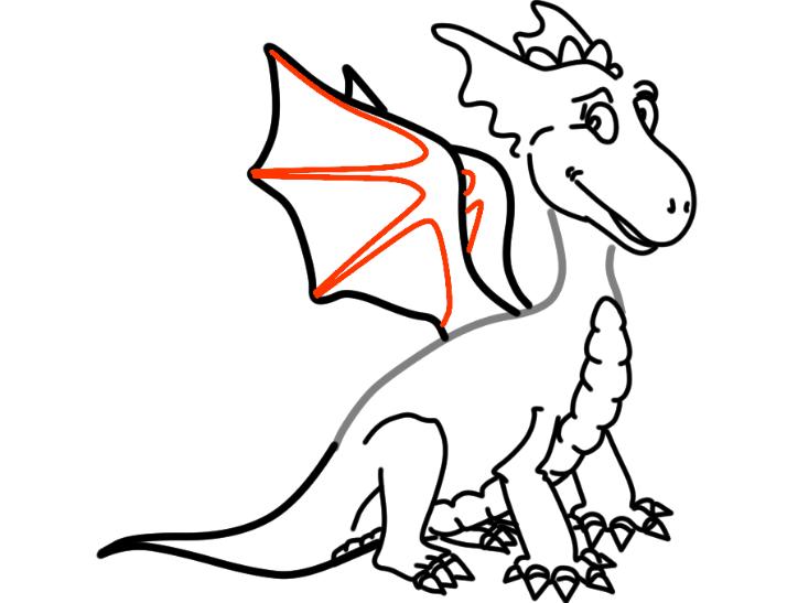 как нарисовать дракона 23