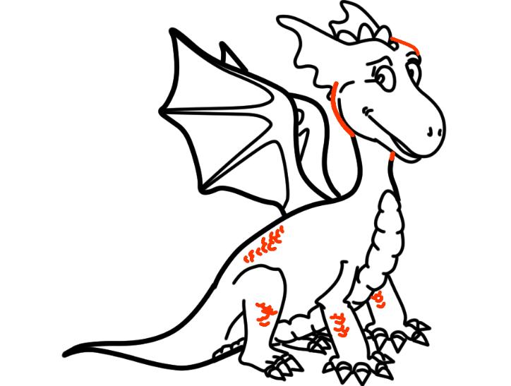 как нарисовать дракона 24