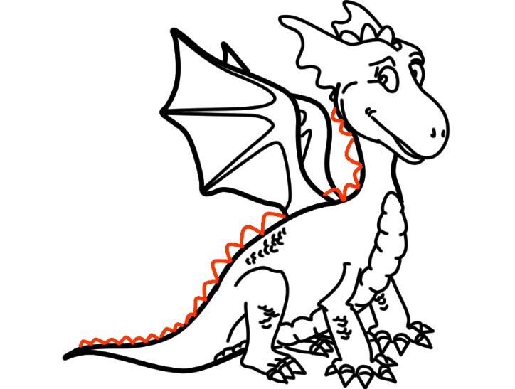 как нарисовать дракона 25