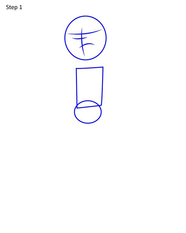 Как нарисовать Сашу из Амфибий 1