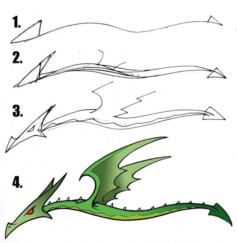как нарисовать дракона 27