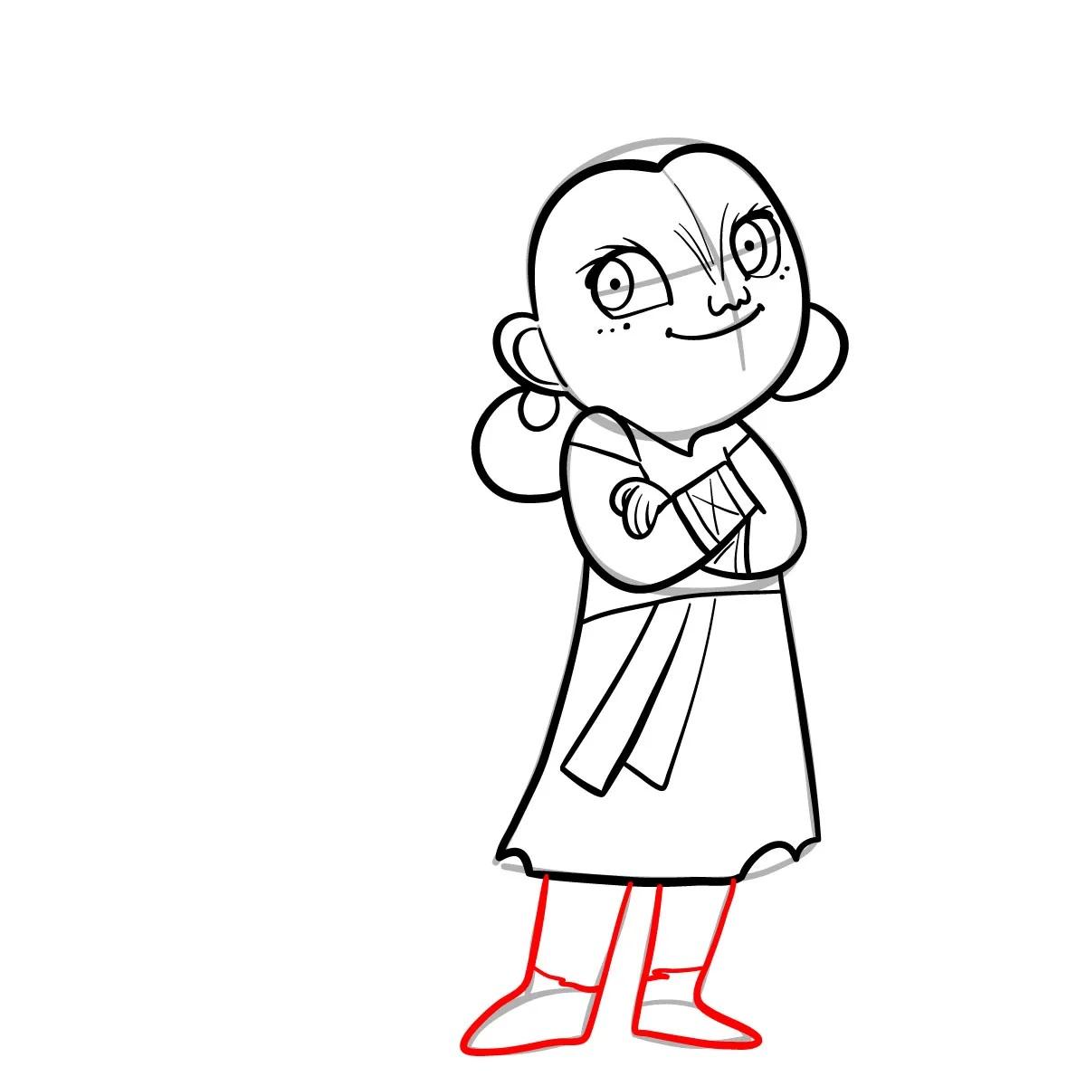 как нарисовать сноволка Мэб 10