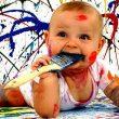 Рисование с маленьким ребенком
